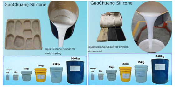 Addition Cure Liquid Silicone Rubber for Concrete